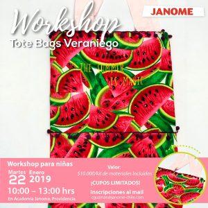 Workshop Tote Bags Veraniego
