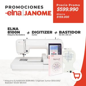 Elna 8100N + Digitizer Junior + Bastidor