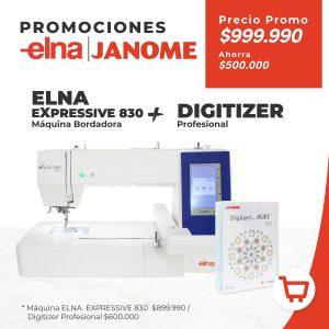 Elna Expressive 830 + Digitizer Profesional
