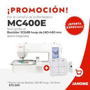 Máquina Bordadora MC400E + Bastidor 14x14 cm